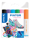Fun Colours Pack of Medium Pilot Pintor Paint Markers